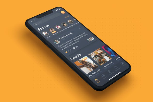 Stories Event Screen - Social Mobile UI Concept