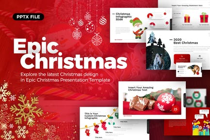 Epic Christmas Powerpoint Presentation Template
