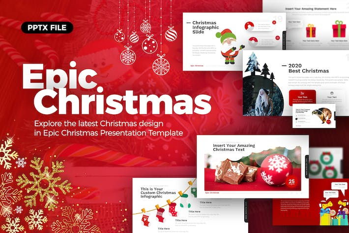 Thumbnail for Epic Christmas Powerpoint Presentation Template