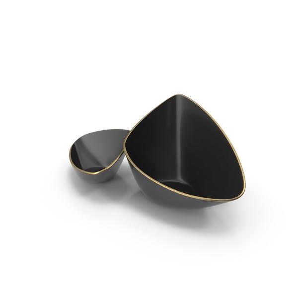 Thumbnail for Black Designer Vase Bowl Set