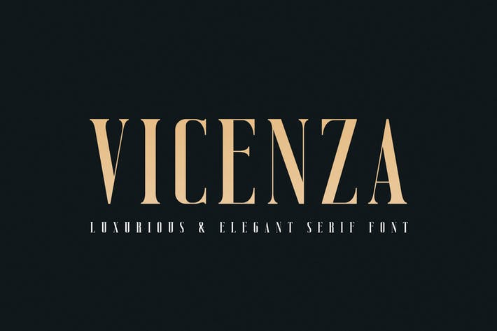 Thumbnail for Vicenza - Elegante Con serifa