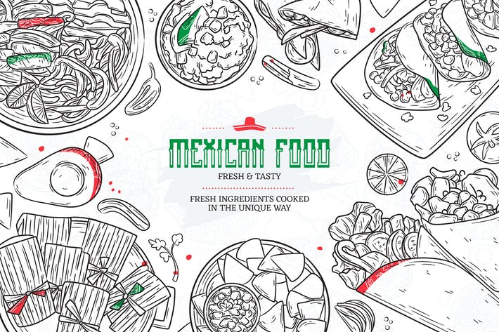 Thumbnail for Hand Drawn Mexican Food Sketches