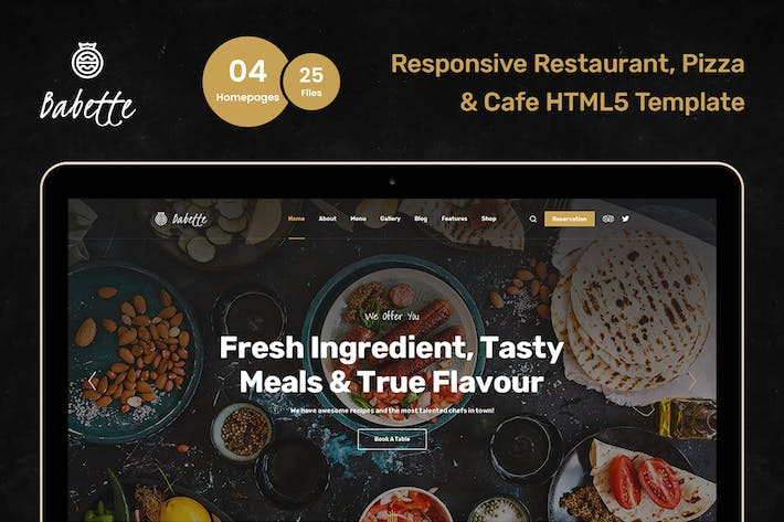 Thumbnail for Babette - Restaurant & Cafe HTML5 Template