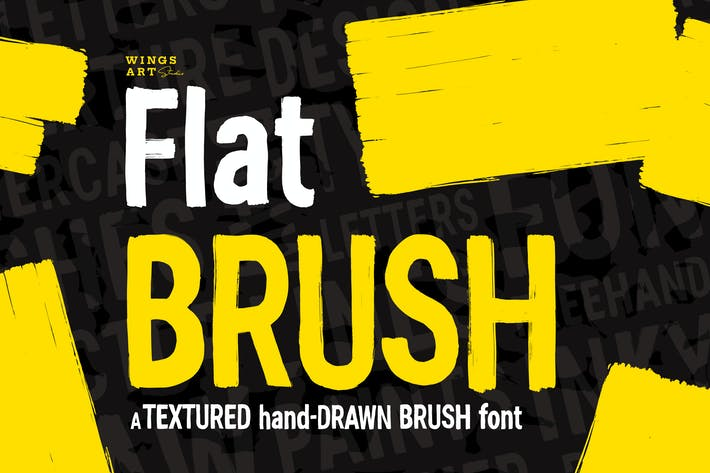 Thumbnail for Flat Brush Font