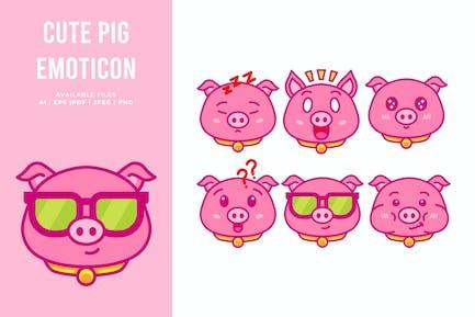 Cute Pig Emoticon