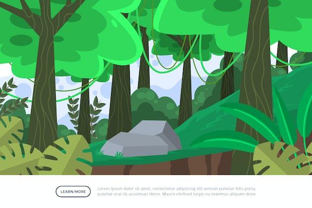 Forest - Background Illustration