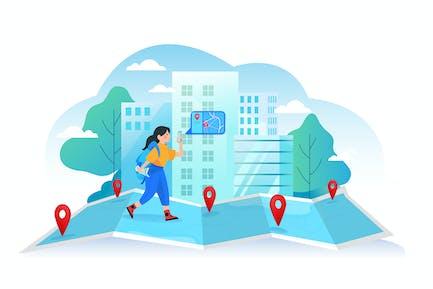Navigation auf Ihrem Smartphone.