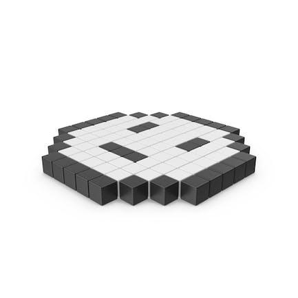 Pixelated Neutral Emoji