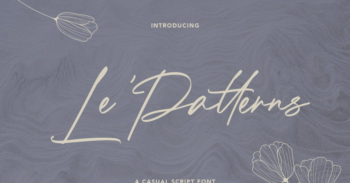 Download Le Patterns Script Font by maulanacreative