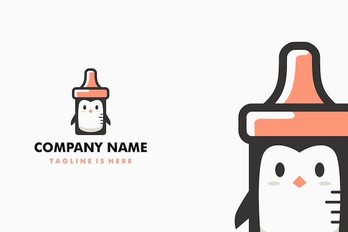Penguin Baby Feeding Nursing Bottle Logo