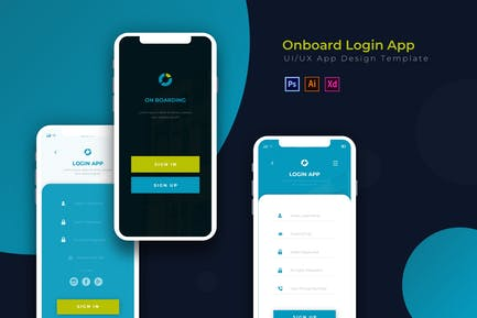 OnBoarding Login | App Design Template