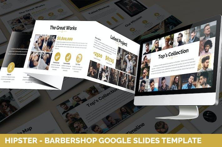 Thumbnail for Hipster - Barbershop Google Slides Template