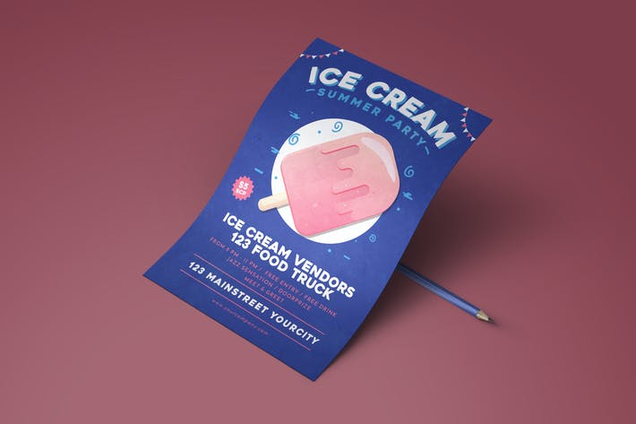 Thumbnail for Summer Ice Cream Flyer