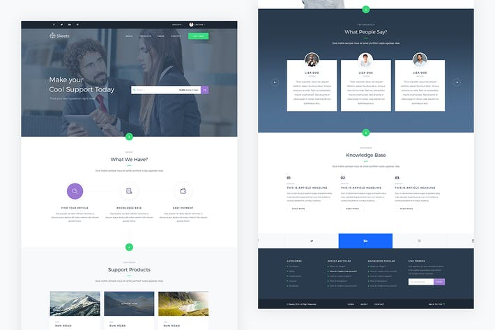 Thumbnail for Skeets — Helpdesk and Knowledge Base PSD Template