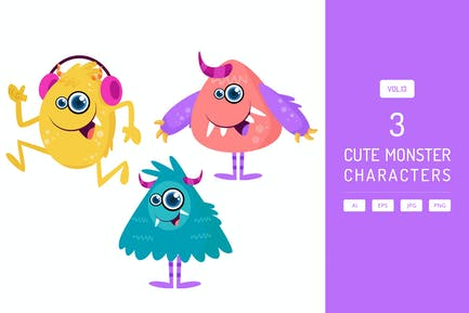 Cute Monster Characters Vol.13