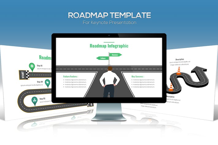 Thumbnail for Roadmap Template For Keynote Presentation