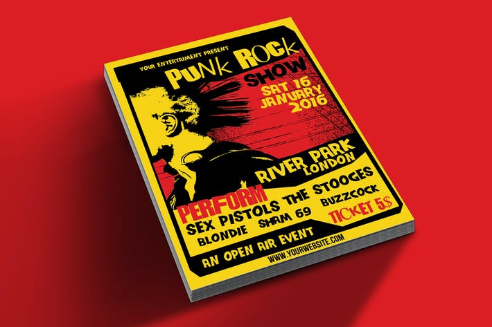 Thumbnail for Punk Rock Show flyer tamplate