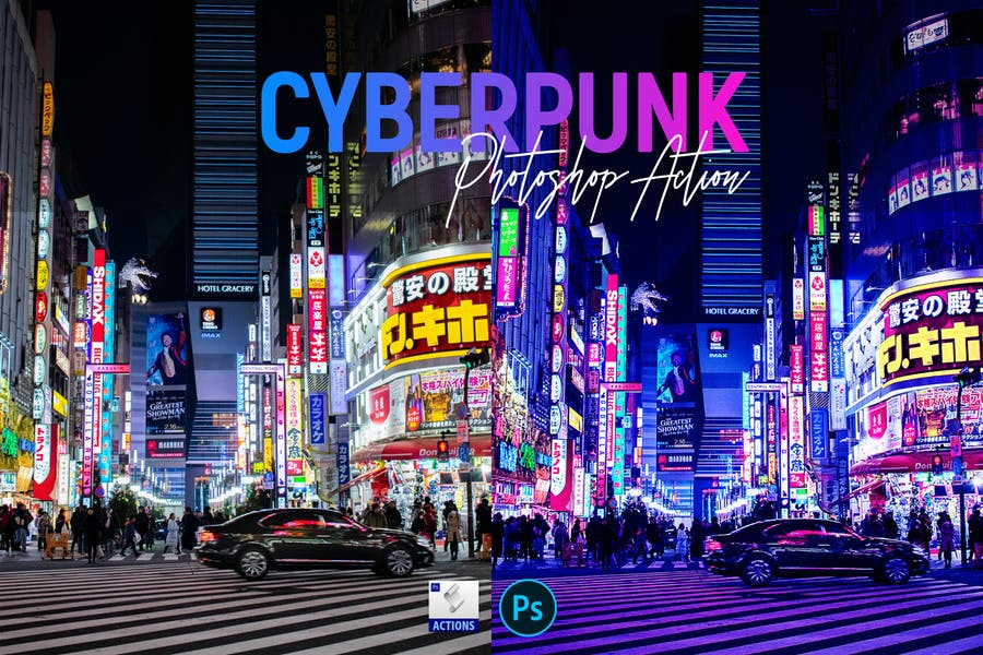 Cyberpunk | Photoshop Action