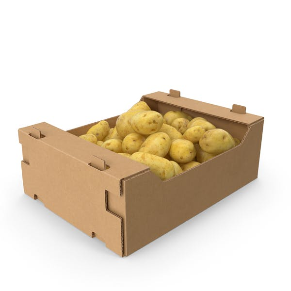 Thumbnail for Cardboard Box of Potatoes