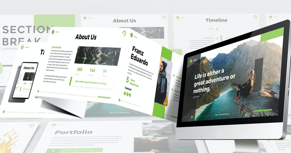 Download Laforest - Modern Google Slides Template by SlideFactory