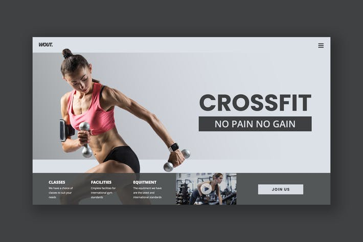 Thumbnail for Healthy Fitness Hero Header Template