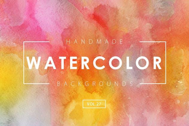 Handmade Watercolor Backgrounds Vol.27