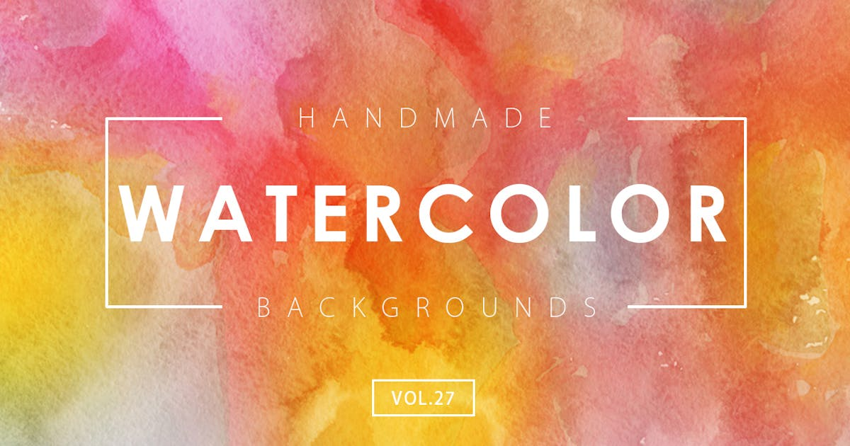 Download Handmade Watercolor Backgrounds Vol.27 by M-e-f