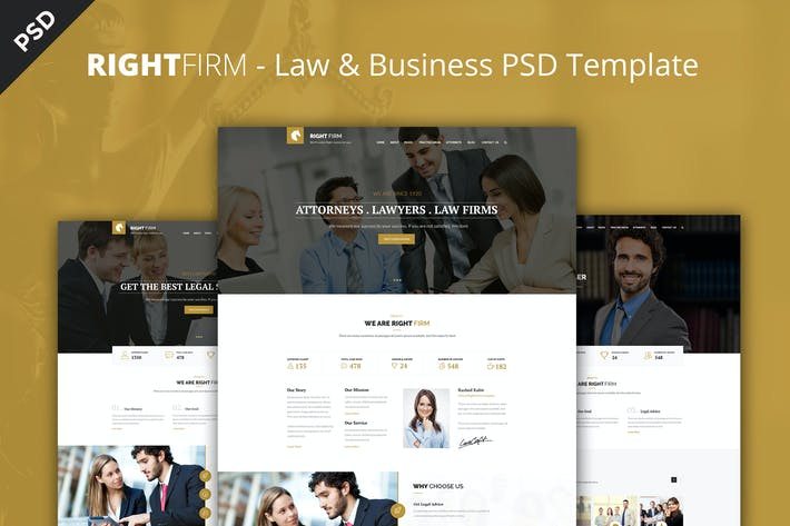 Thumbnail for RIGHTFIRM - Law & Business PSD Template