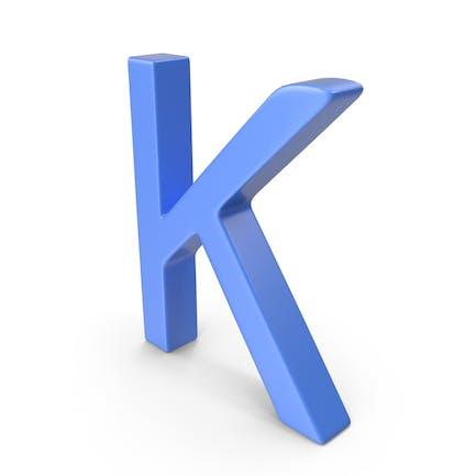 Letter K Blue