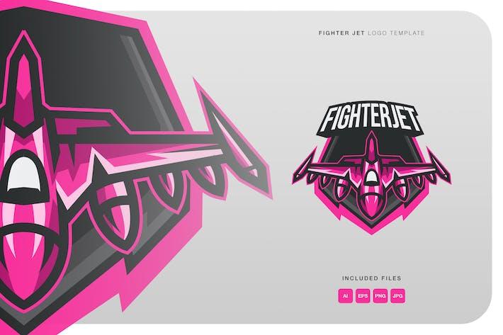 Thumbnail for Fighter Jet Logo Template
