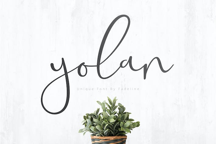 Thumbnail for Yolan Unique Font
