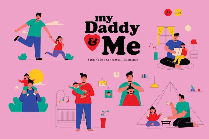 Thumbnail for My Daddy & Me, Graphics Illustration
