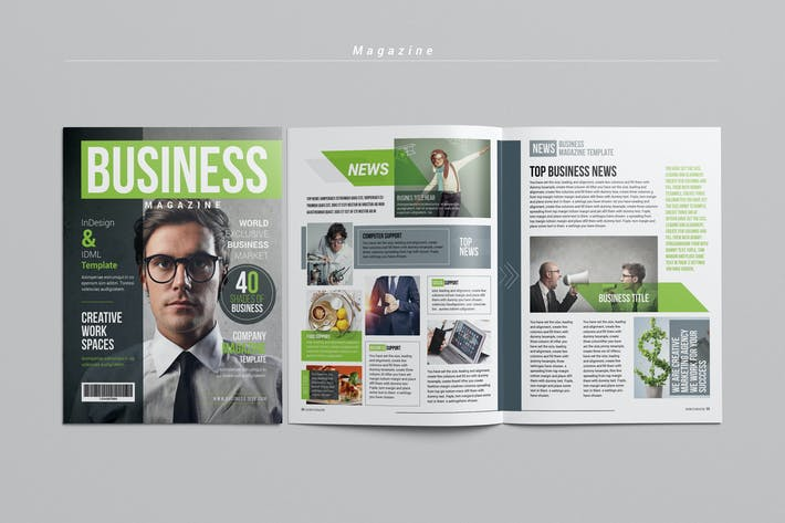 Cover Image For Business Magazine Template