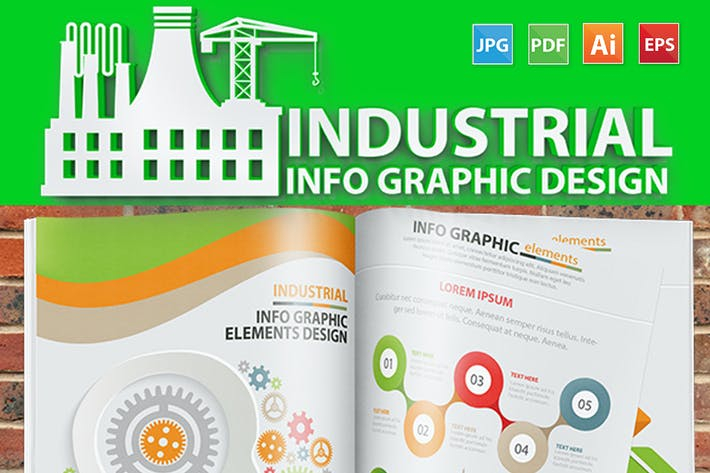 Thumbnail for Industry Infographic 17 Pages Design