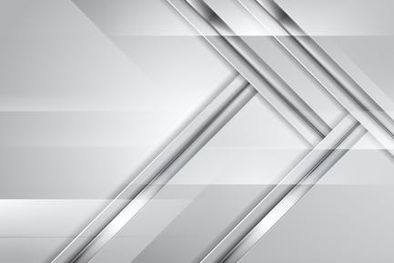 Grey abstract tech background with silver stripes
