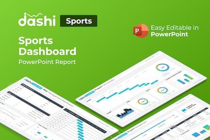 Dashi Sports – Sports Dashboard PowerPoint Report