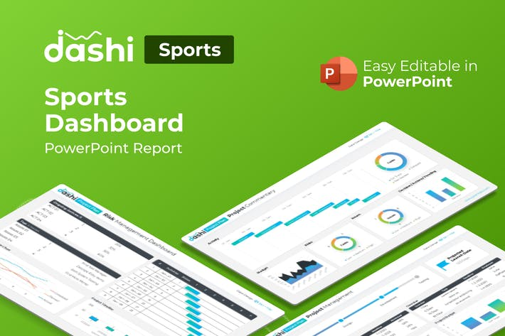 Thumbnail for Dashi Sports – Sports Dashboard PowerPoint Report