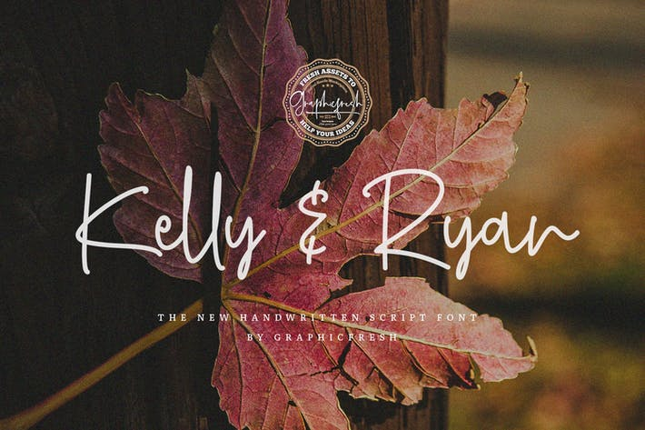 Thumbnail for Kelly & Ryan | The Handwritten Font