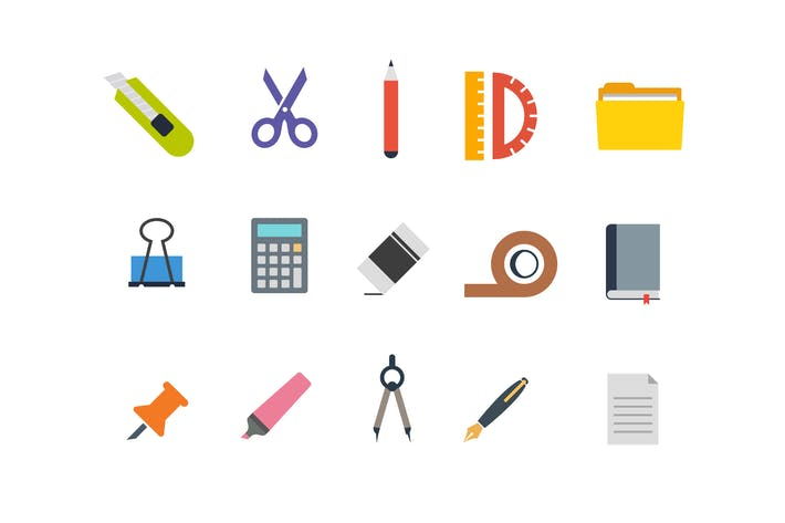 Thumbnail for 15 Stationary Icons