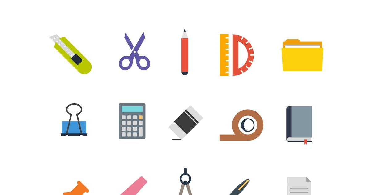 Download 15 Stationary Icons by creativevip