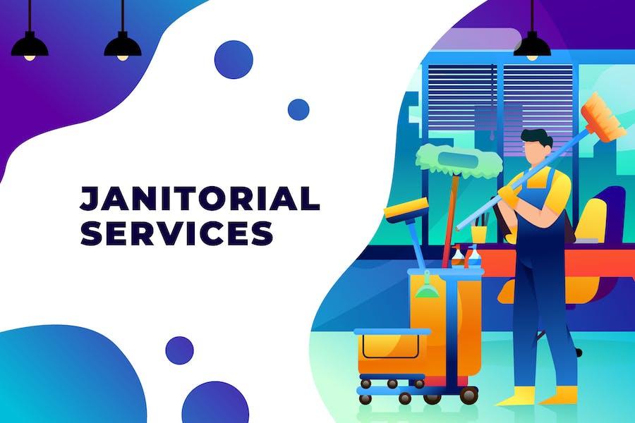 Servicios de conserjería - Ilustración Vector