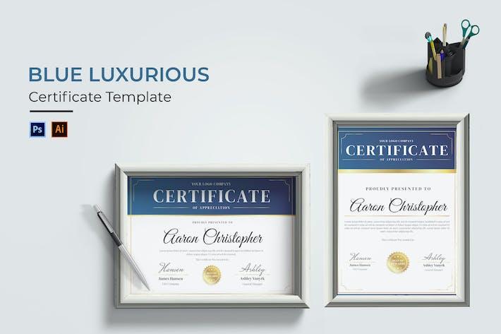 Blue Luxurious Certificate