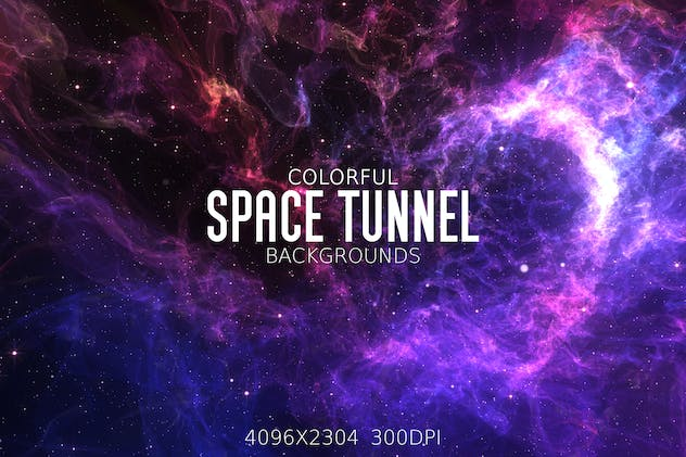 Colorful Space Tunnel Backgrounds