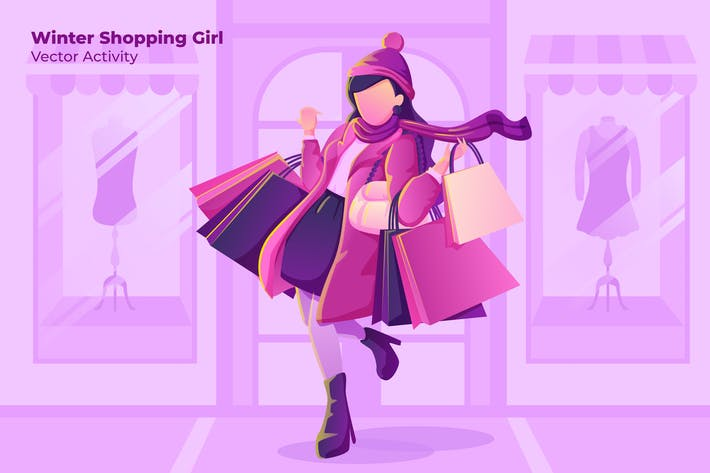 Thumbnail for Winter Shopping - Vector Illustration