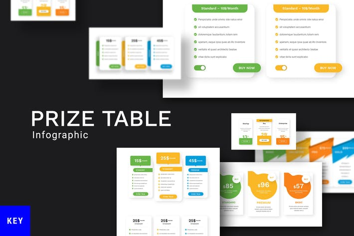 Various Price Table Keynote Template