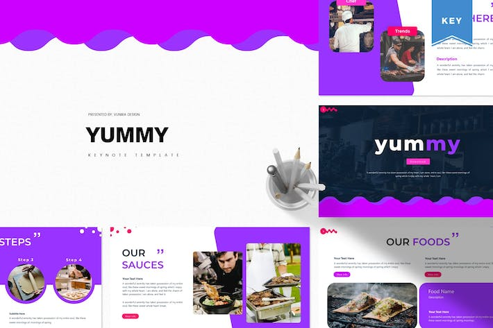 Thumbnail for Yummy | Шаблон Keynote