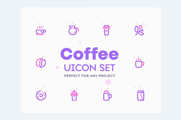 Cover Image For UICON - Coffee Shop, Cafe Icons Set