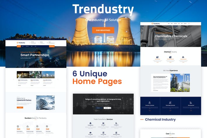Thumbnail for Trendustry - Industrial & Manufacturing WordPress