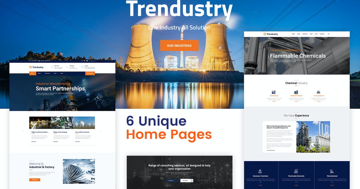 Download Trendustry - Industrial & Manufacturing WordPress by CreativeWS