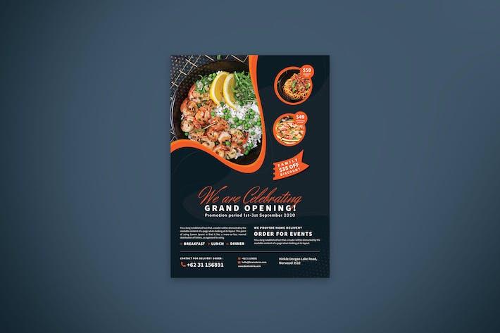 Thumbnail for Restaurant & Cafe Opening Promo Flyer